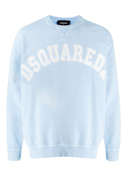 dsquared2 white fade dye sweat light blue aw 2020