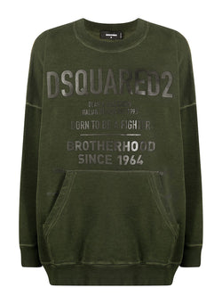 dsquared2 yoyo fit oversized sweatshirt green aw 2020