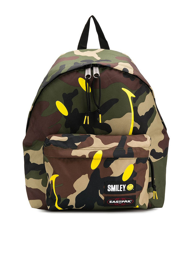 eastpak x smiley padded pakr camo backpack smiley camo ss 2020