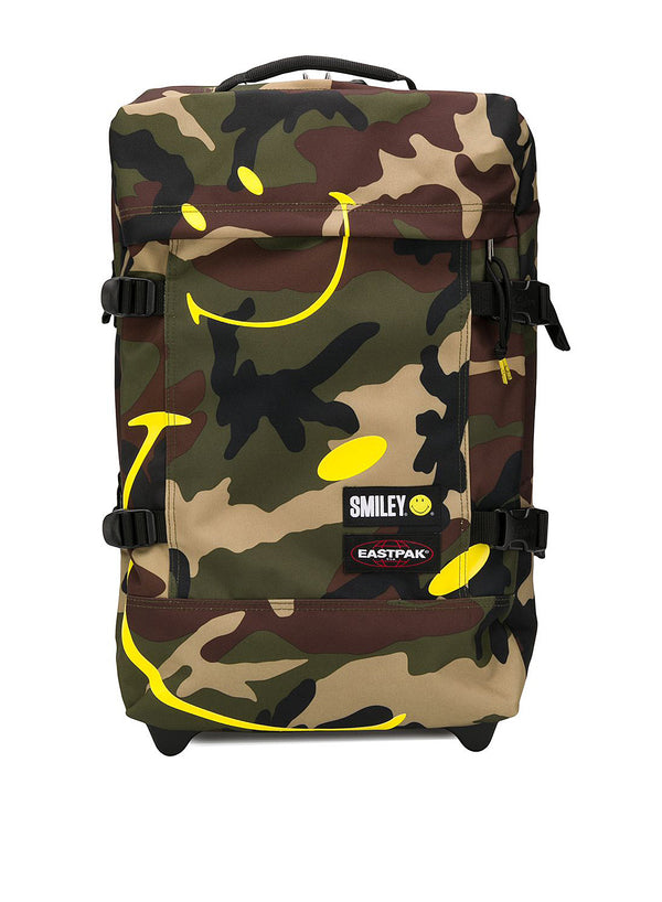 eastpak x smiley tranverz weekend bag smiley camo ss 2020
