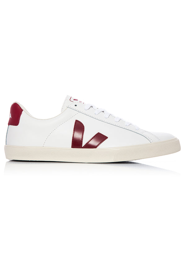 esplar logo leather trainer extra white aw 2020