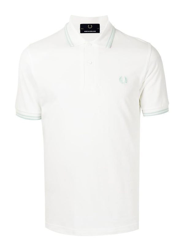 fred perry laurel wreath m12 twin tipped polo shirt soft white ss 2021