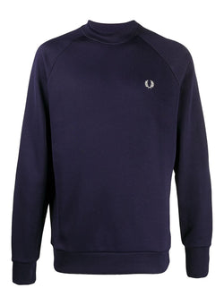 fred perry reissues raglan sleeve sweatshirt blue aw 2020