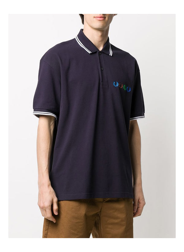 Twin Tipped Polo Shirt - Indigo Night