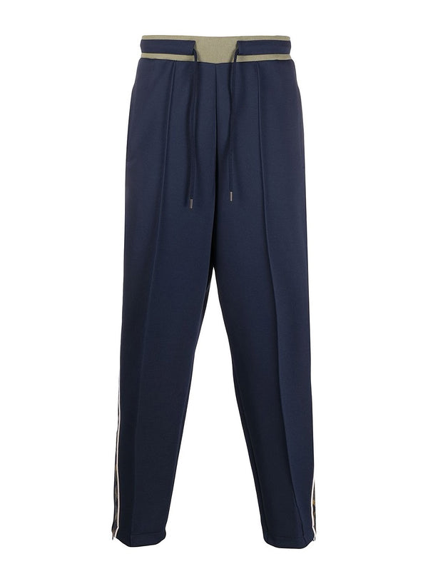 fred perry x nicholas daley tartan print track pant shaded navy aw 2020