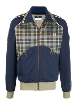 fred perry x nicholas daley tartan track jacket shaded navy aw 2020