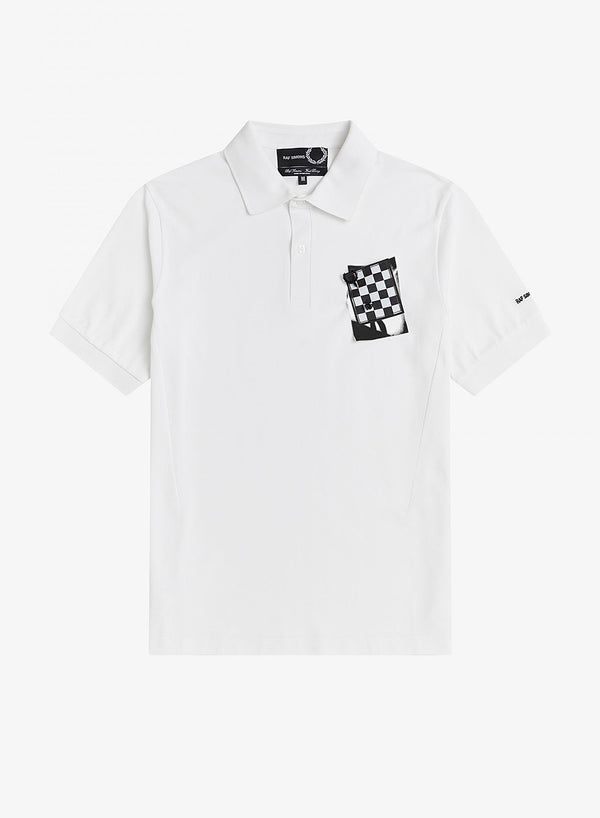 fred perry x raf simons chest patch polo shirt white ss 2021