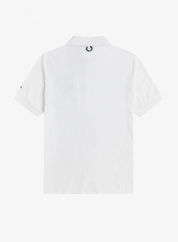 Chest Patch Polo Shirt - White