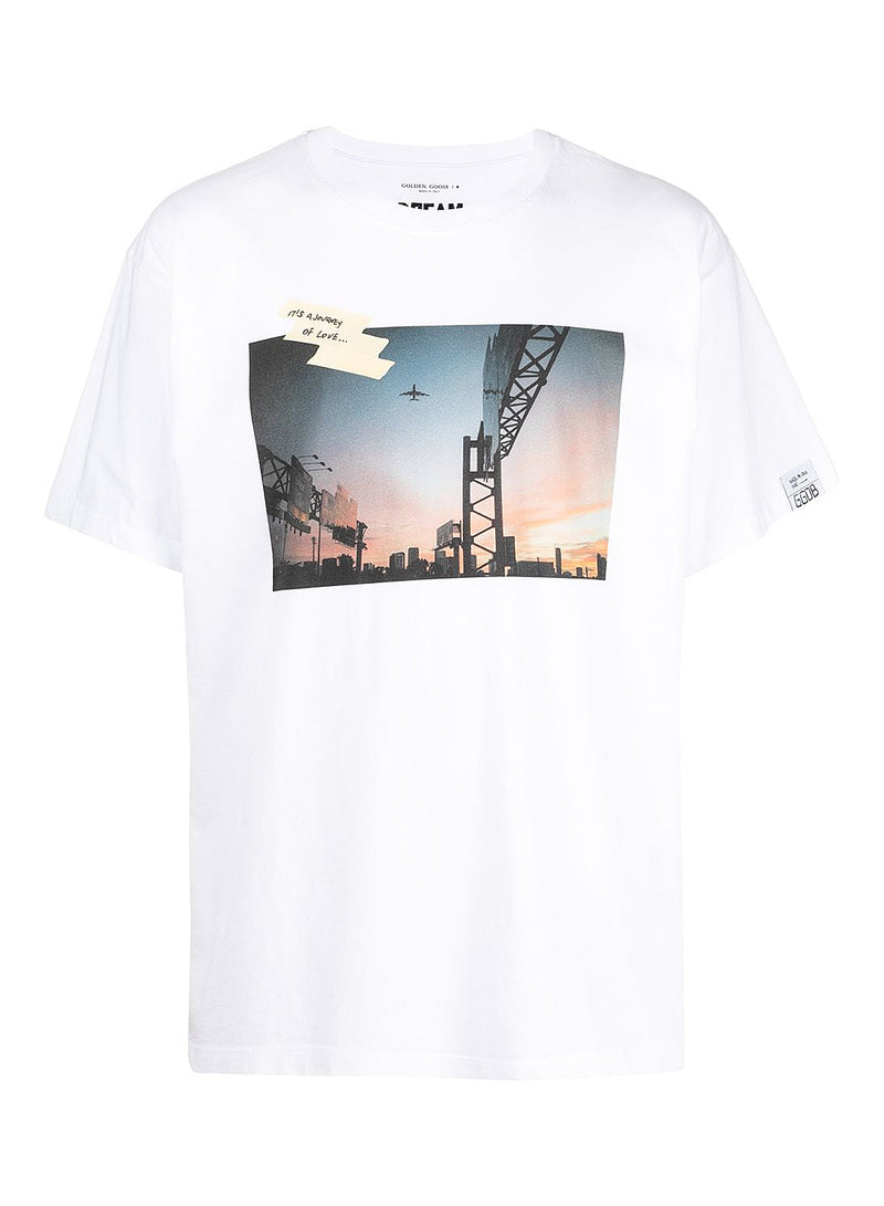golden goose artu sunset tee white multi ss 2021