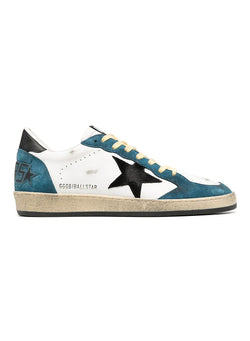 golden goose ballstar suede toe star and leather upper white blue storm black aw 2020
