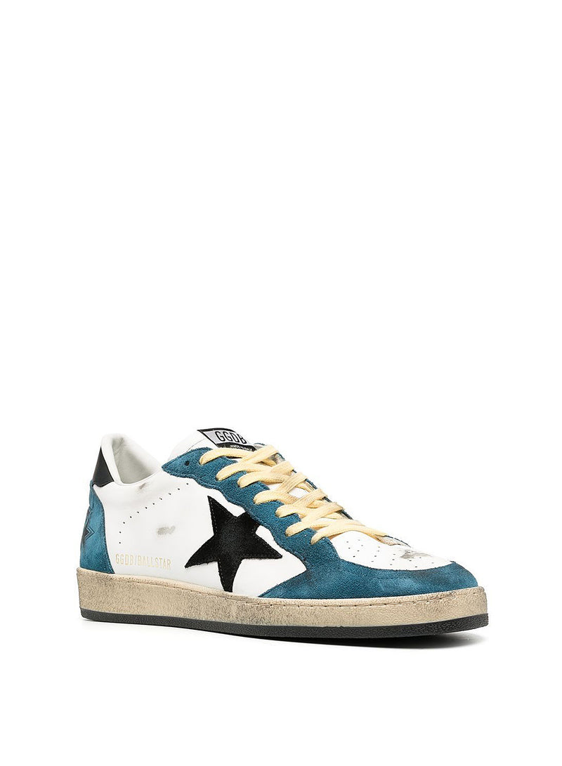 Ballstar Suede Toe Star And Leather Upper - White/Blue Storm/Black