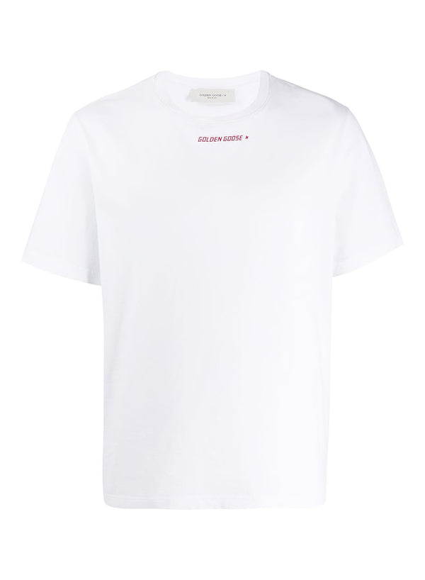 golden goose golden tee white red ss 2020