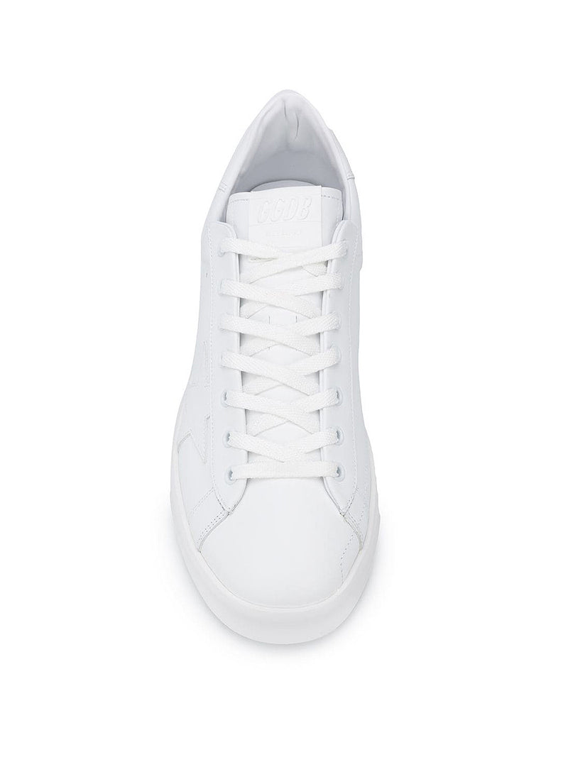 Pure Star Leather Upper Star And Heel - Optic White