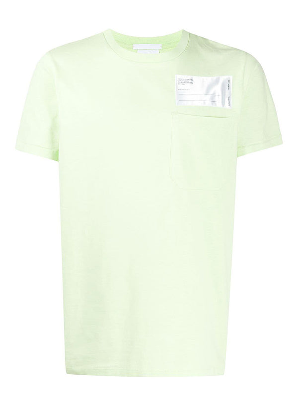 helmut lang heavy pocket tee industry electric yellow aw 2020