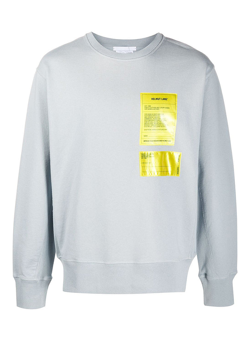 helmut lang masc crewneck sweat mechanical grey aw 2020