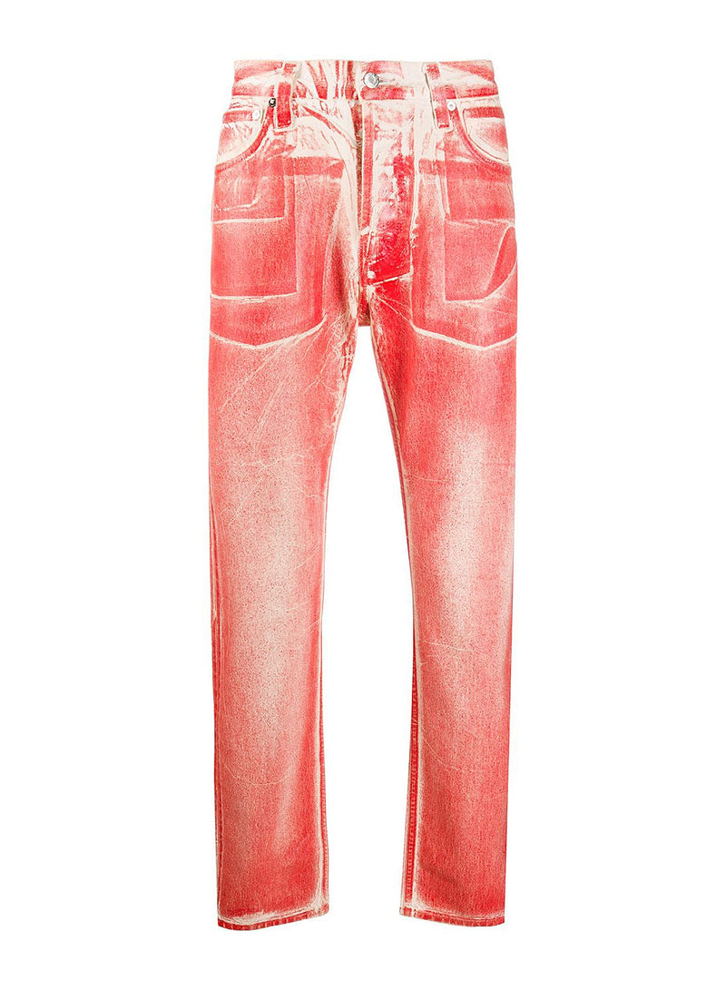 helmut lang masc hi straight jean red volcano lacquer aw 2020