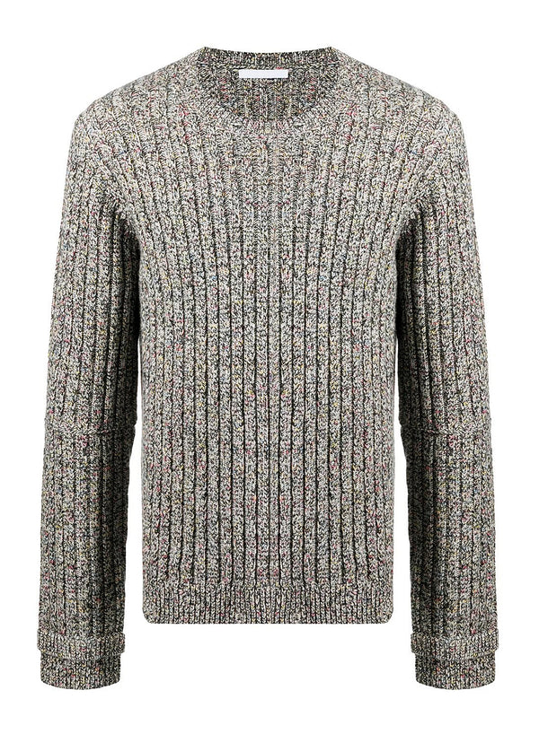 helmut lang slash crewneck jumper multi aw 2020