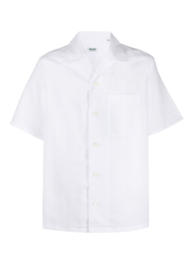 kenzo casual open collar s s shirt white ss 2020