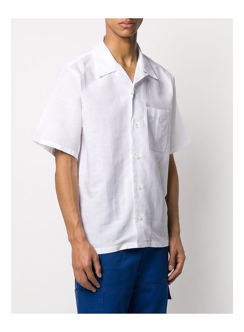 Casual Open Collar S/S Shirt - White