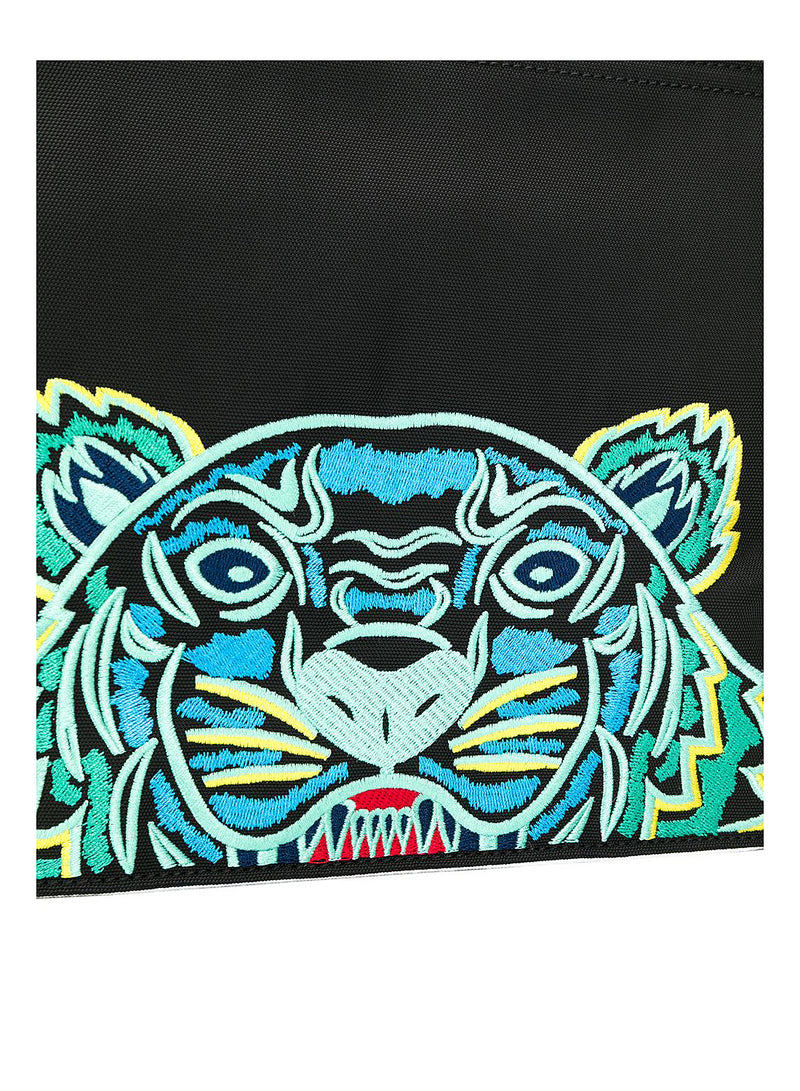 Tiger Head Large Pouch - Black