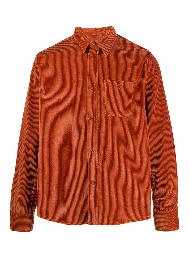 kenzo casual cord shirt orange aw 2020