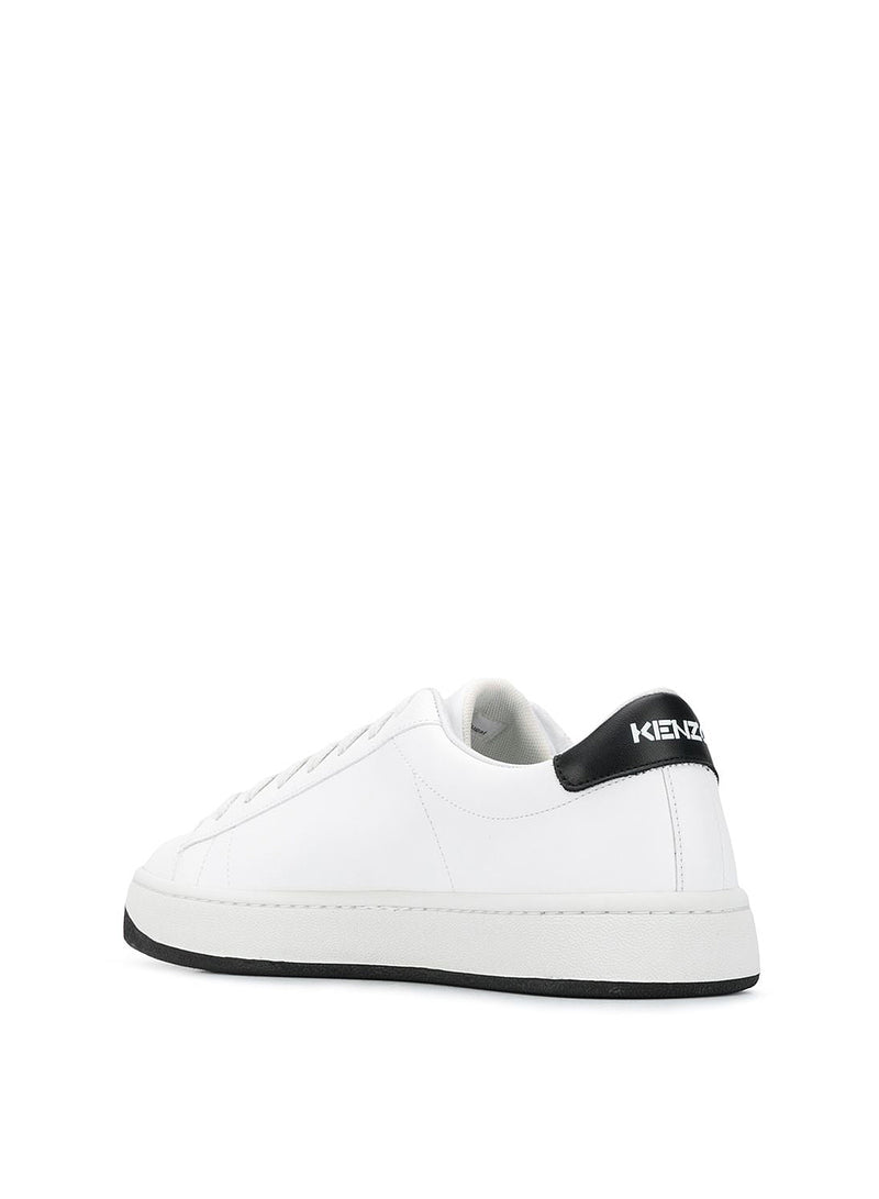 K-Lace Up Sneakers - White/Black