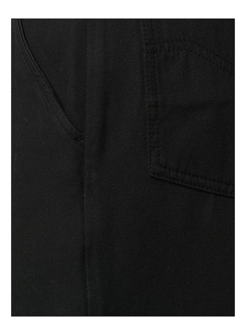 Long Denim Short   - Black