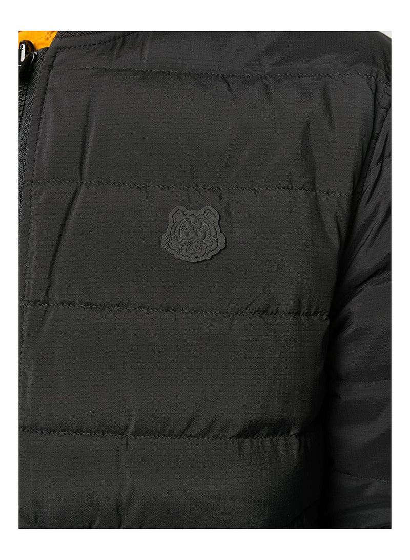 Packable Reversible Padded Jacket - Black/Olive