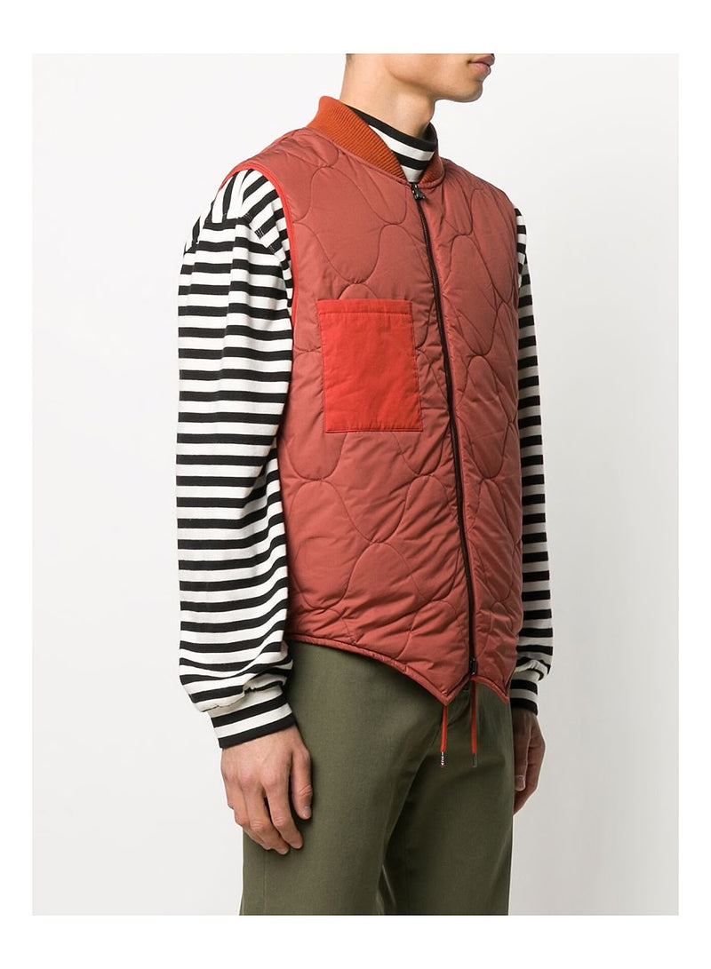 Reversible Down Gilet - Rust