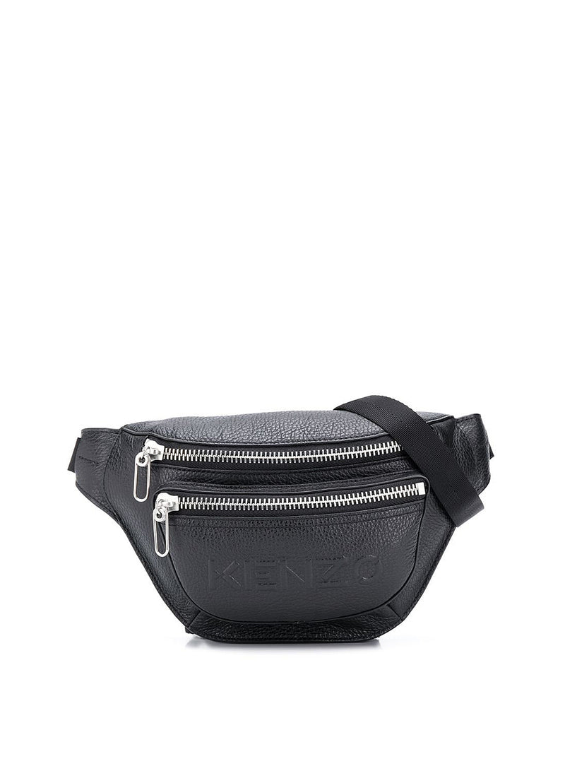 kenzo textured leather bumbag black aw 2020