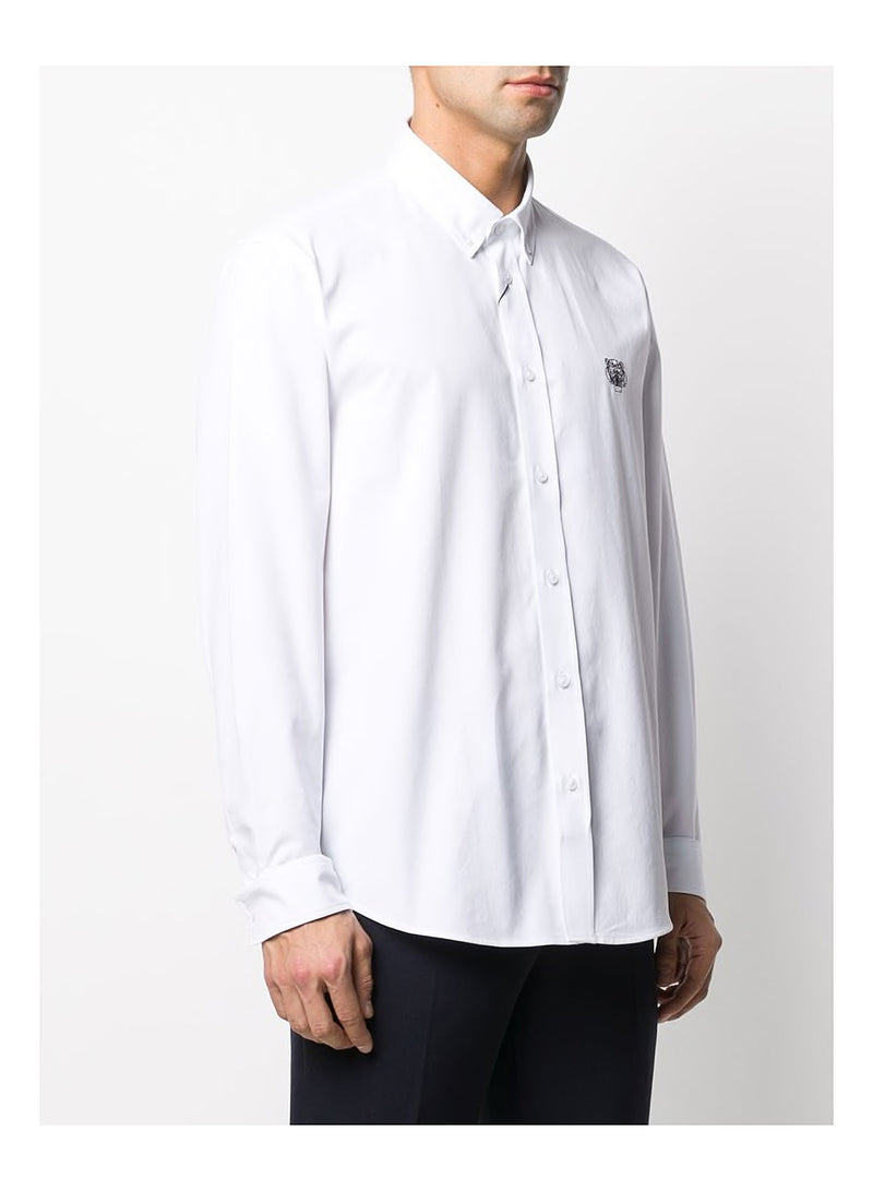 Tiger Crest Causal Fit Shirt - White