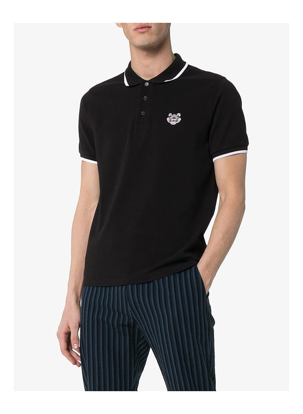 Tiger Crest K Fit Polo Shirt - Black