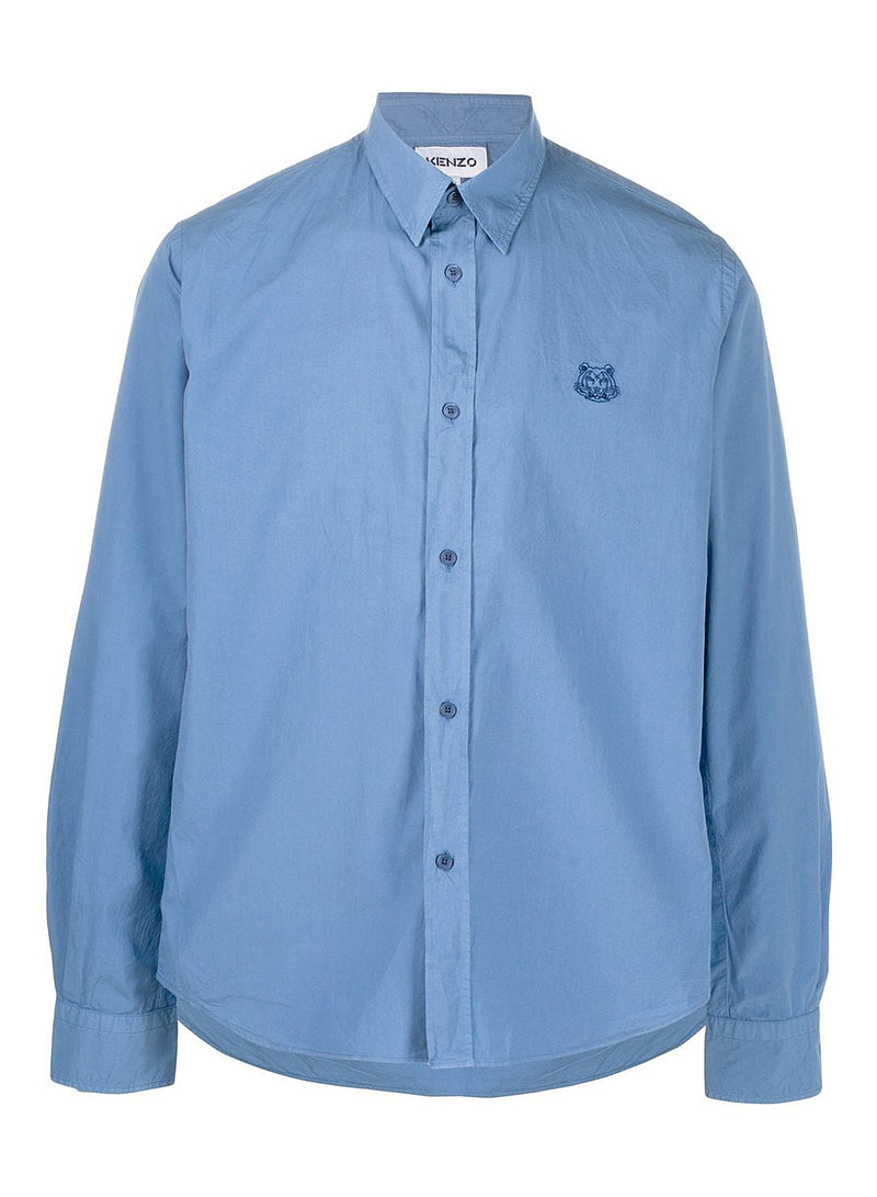 kenzo tiger crest shirt light blue aw 2020