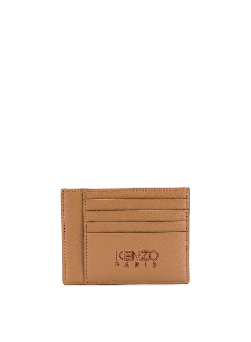 Tiger Head Large Cardholder - Brown