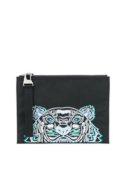 kenzo tiger head tablet pouch black aw 2020