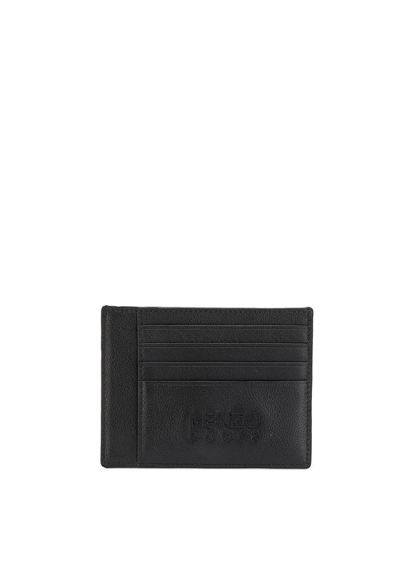kenzo tonal tiger head card holder black ss 2020