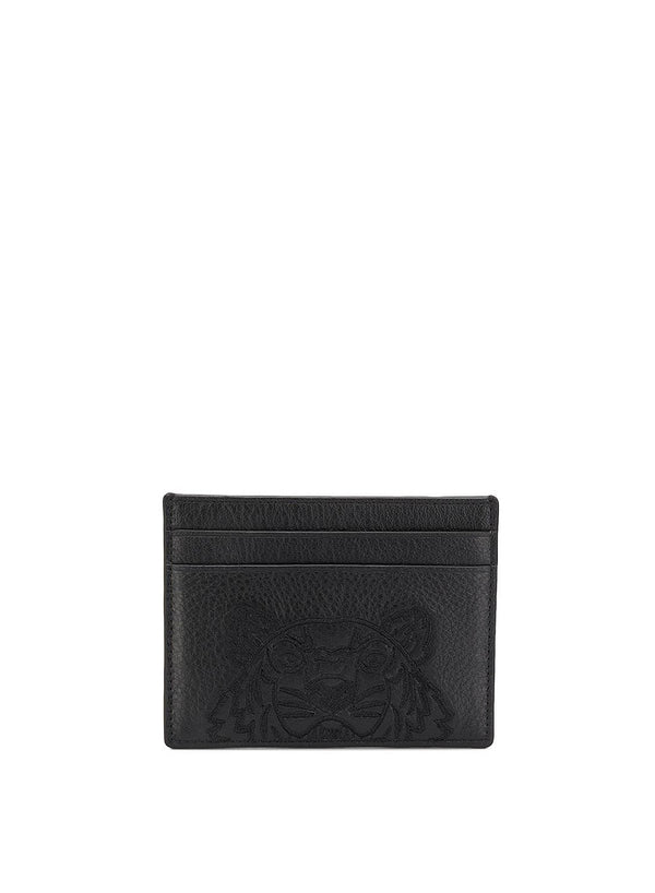Tonal Tiger Head Card holder - Black