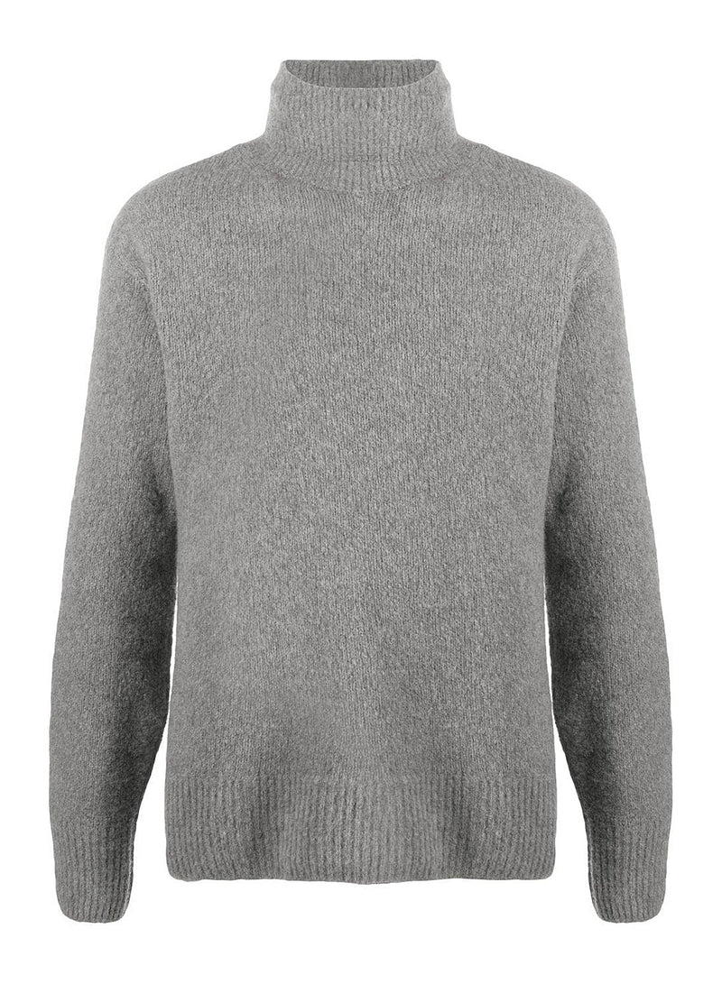 kenzo wool recycled cashmere turtle neck jumper grey aw 2020