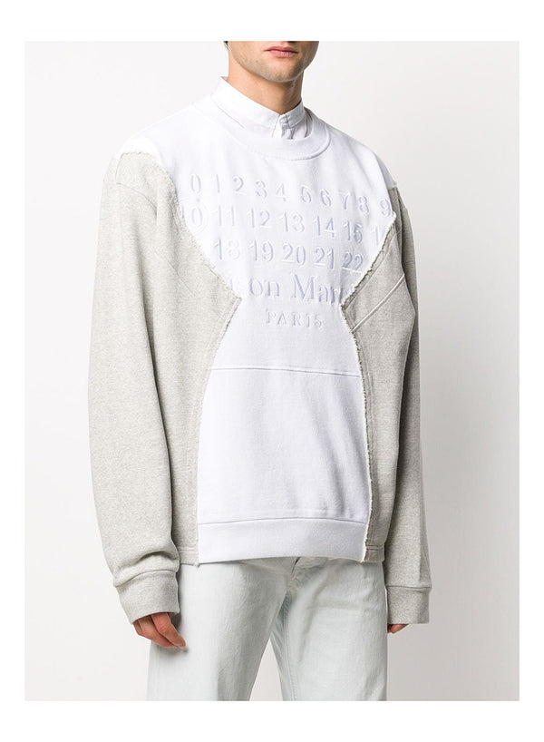 Cut + Sew Crew Sweatshirt - White