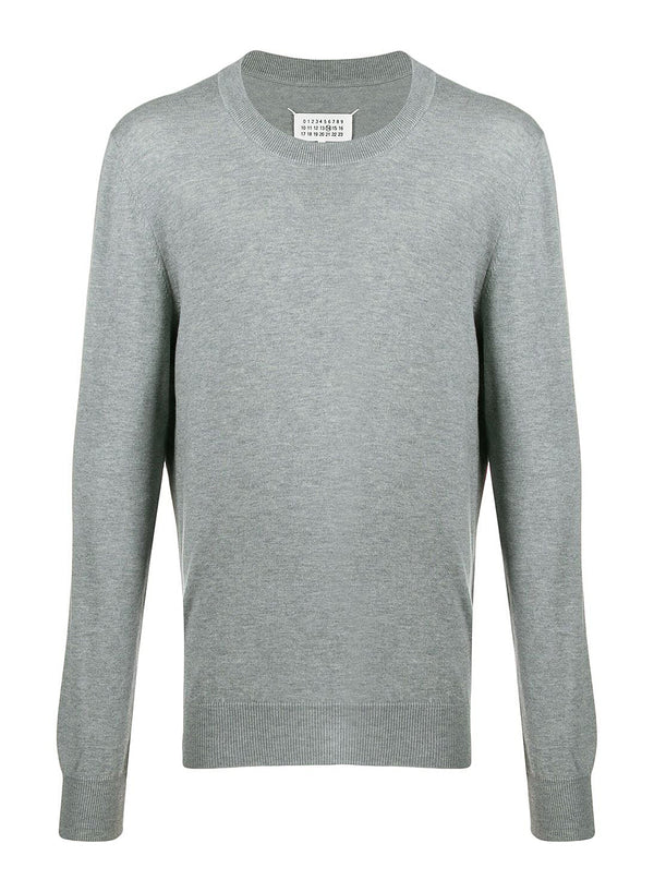 Elbow Patch Jumper - Light Grey