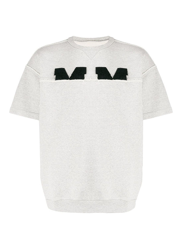 maison margiela half m short sleeve cotton sweat grey ss 2020