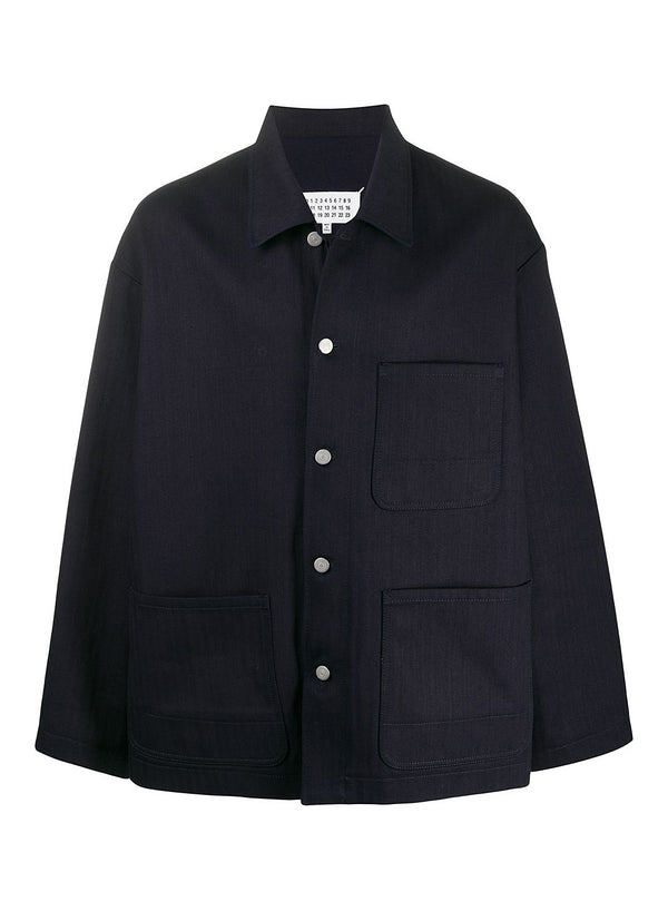 maison margiela herringbone denim jacket indigo ss 2020