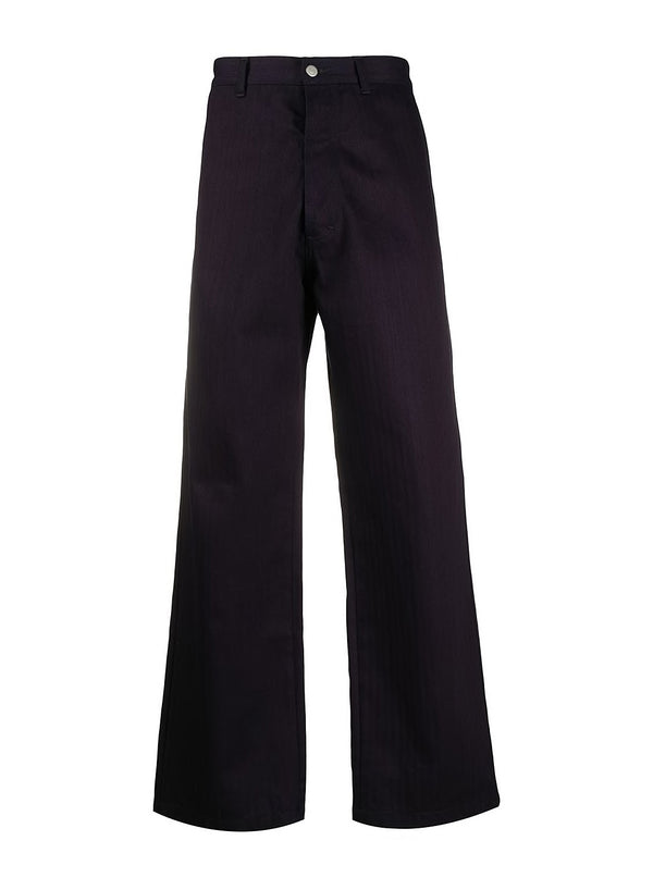 maison margiela herringbone denim trousers indigo ss 2020