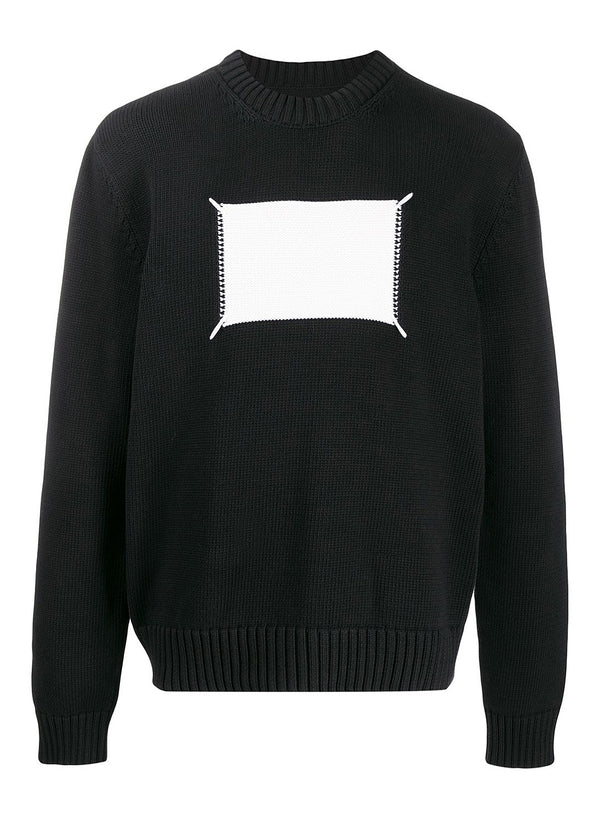 maison margiela reverse label knitted jumper black ss 2020