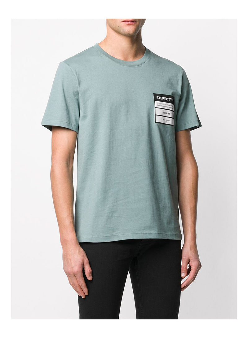 Stereotype Jersey Cotton Tee  - Slate Grey