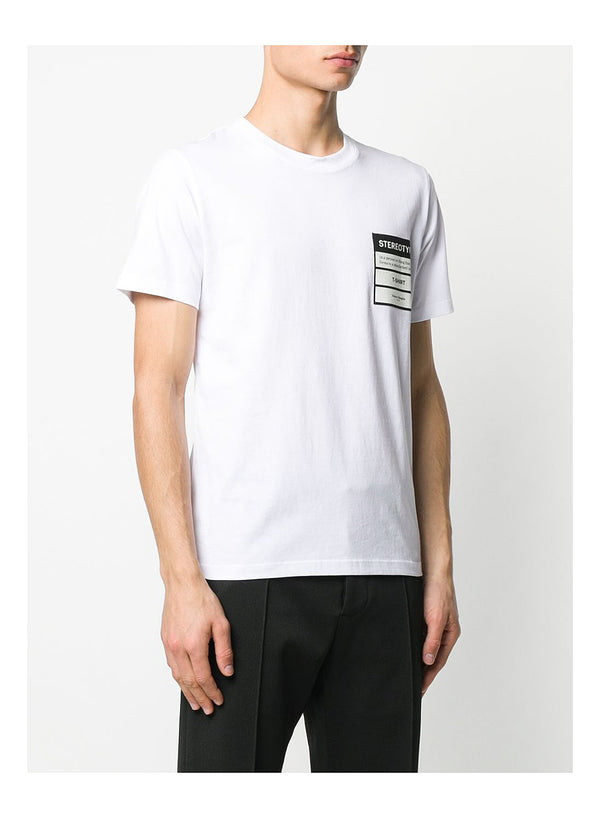 Stereotype Jersey Cotton Tee  - White