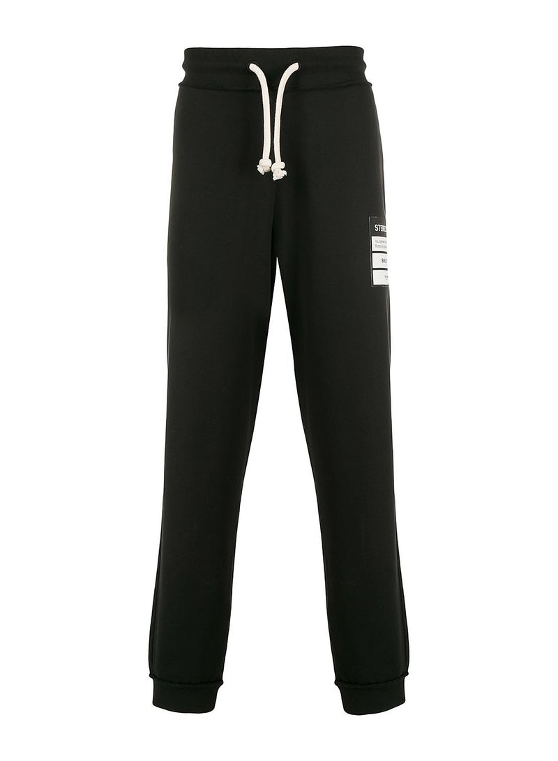 maison margiela stereotype organic cotton sweatpants black ss 2020