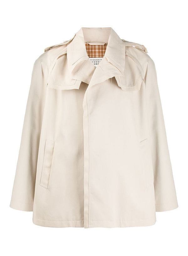 maison margiela trench gabardine jacket light beige ss 2020