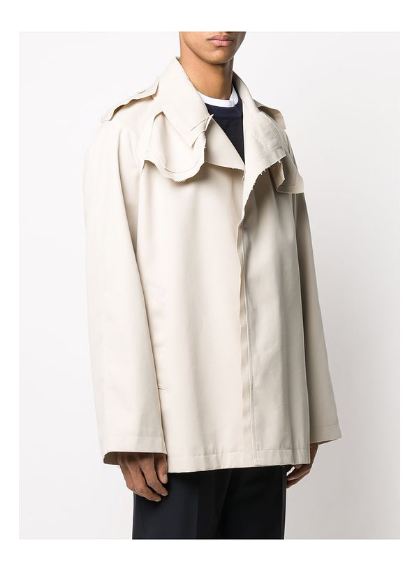 Trench Gabardine Jacket - Light Beige
