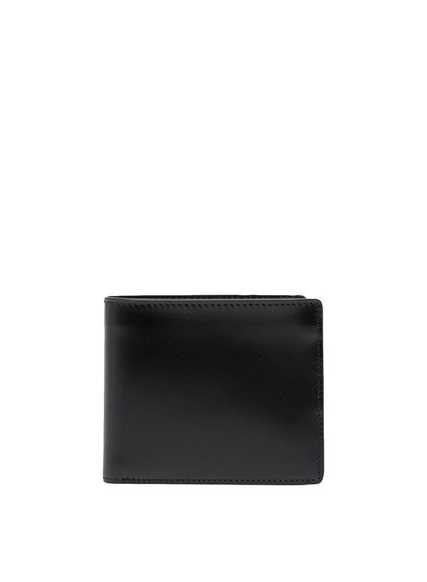 maison margiela bifold leather wallet black ss 2021